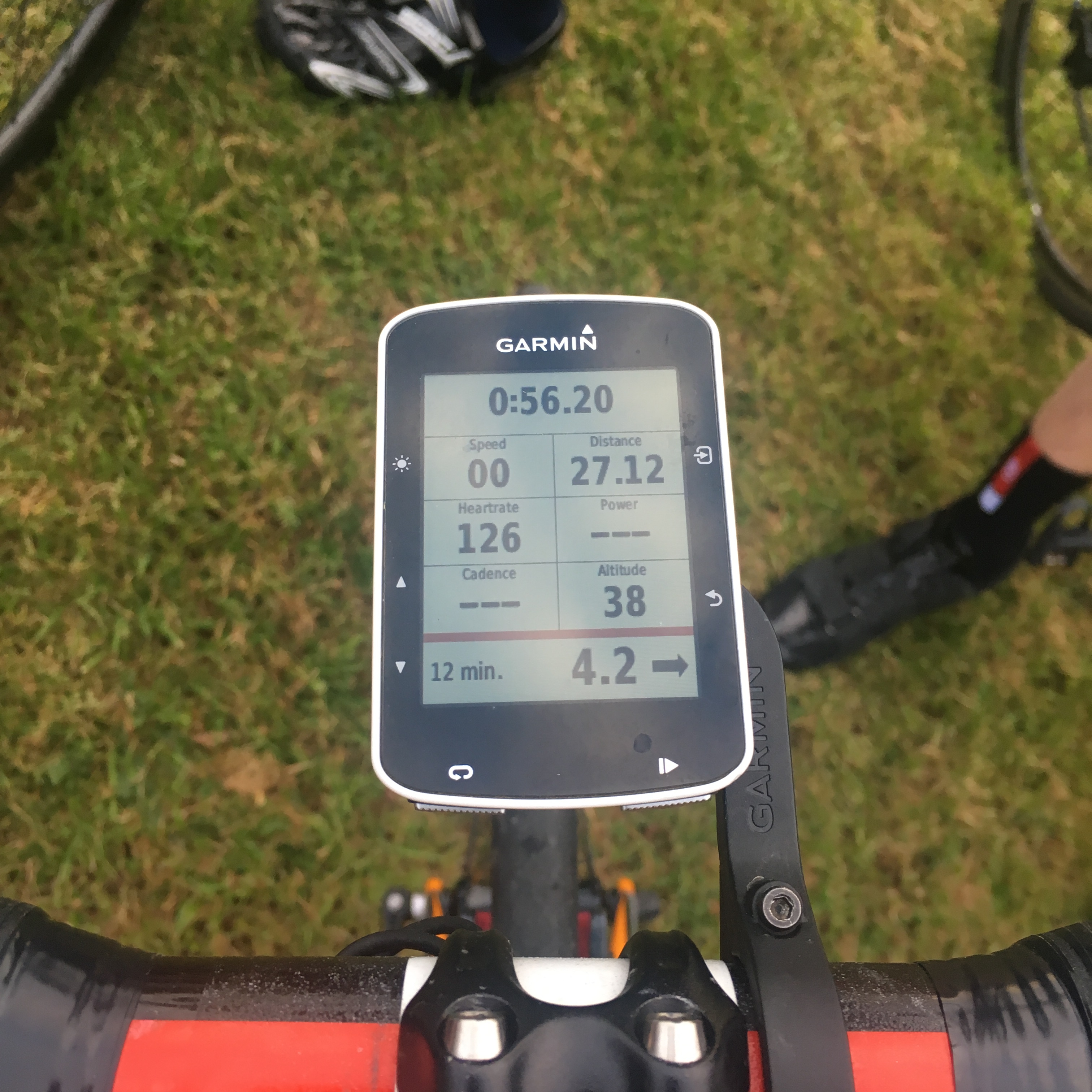 I work in tech, so getting this working was something I was keen on. This is my bike computer which is actually showing my current blood glucose level and trendline (bottom of screen). Technology is making diabetes management close to real time!
